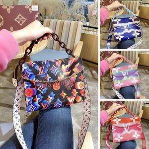 Tasarımcı Lüks Çanta Yeni Pembe Gökkuşağı Moda Tripler Çanta Çanta Geniş Kayış Kadınlar Meessnger Çanta Kanvas Shopper Bag Crossbody çanta omuz