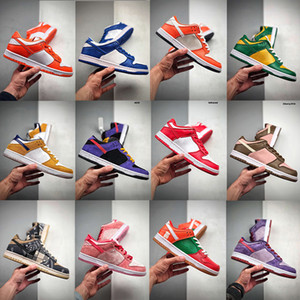 ACG Scotts x SB Dunks Baixa Plum Veneer Sneakers Chama Laranja Strangelove azul Fúria Safari Kentucky Varsity Real Syracuse Skateboarding Shoes