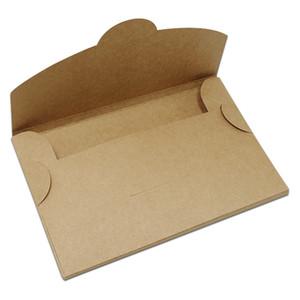 30Pcs 6 Größen Brown Kraft Paper Postkarte Verpackungen Boxen Papercard Picture-Aufbewahrungsbehälter-Umschlag Grußkarte faltbare Kartonverpackungsschachteln