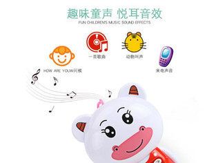 Novelty Cartoon Model Kids Phone Toy Children Telephone Talking Toys Parenting Game Electric can play music and light
