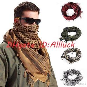 Top Fashion 100% cotton thick Muslim headscarf High Quality tactical desert Arabian luxury scarf designer mens scarfs military windproof