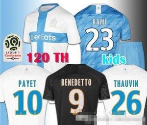 MEN+KIDS 19 20 Soccer Jersey Olympique De Marseille Maillot de Foot PAYET 2019 2020 BENEDETTO THAUVIN GUSTAVO 120th OM Football Shirt like