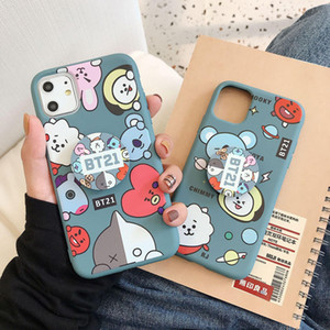 New Luxury design cartoon BT21 Diamond pattern phone case for iphone X XR XS 11 Pro Max 6S 7 8 plus Cute phone cover coque holder
