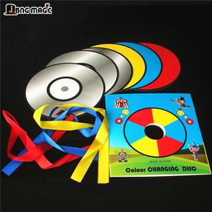 CD descoloração 6 disco Red, fitas amarelas e azuis palco do Magic adereços um talento mostram crianças