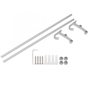Space Aluminum Double Bar Towel Rack Road Storage Organizer for Home Hotel Bom Supplies