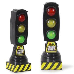 Cantando Entrar Traffic Light Toy Tráfego Electric / RC carro elétrico remoto controlal Modelo Sinal de estrada apropriado para Brio Train
