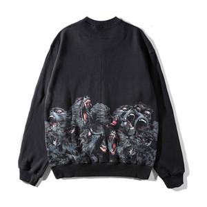 19FW di vendita caldo Mens stilista magliette felpate Uomini Donne Modello Stampato Felpe Hip Hop Oversize Felpe formato S-XL