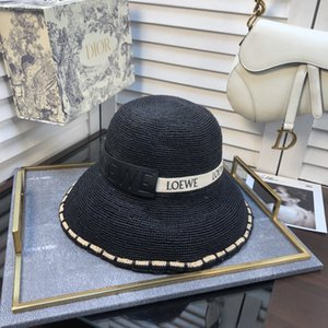 Spring and Summer New Ladies Lafite Straw Hat Fashion Flat Top Hat Big Visor Out of the Sunscreen Sun Hat BB171