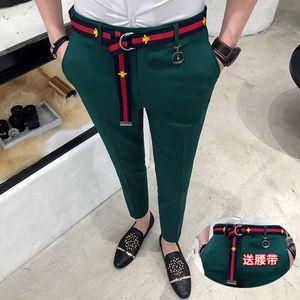 2019 printemps et en été nouveaux pantalons décontractés en coton couleur unie pantalons pour hommes pantalons de costume slim de la mode des vêtements de sport pour hommes grande taille SH190829
