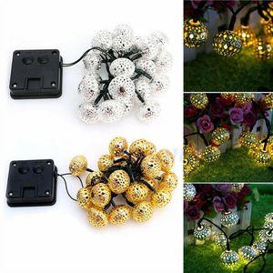 20 LED солнечной энергии цветочный фестиваль строка Фея свет освещение сада открытый высокое качество