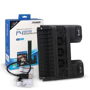 PRO PS4 / PS4 نحيفة / PS4 حامل عمودي مع تبريد تبريد مزدوج المراقب شاحن شحن محطة لSONY بلاي ستيشن 4