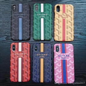 Buchstabe LOGO GOYA Markendiamantstreifen-Telefonkastenoberteil für iphone Xs maximales Xr X 7 7plus 8 8plus 6 6plus harte rückseitige Abdeckung