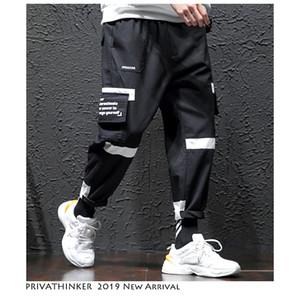 Privathinker Men Color Blcok Streetwear Cargo Pants 2019 Mens Hip Hp Joggers Pantalones Hombre Moda Pantalones de chándal Tallas grandes Overoles SH190902