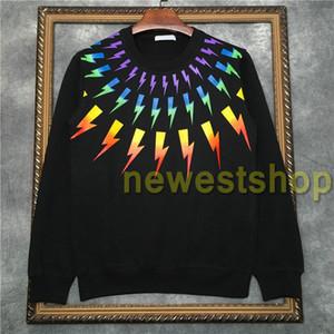2020 Europa LuxuxMens Farbe Geometrie Druck Pullover Mode-Sweatshirt-Männer Frauen Kleiden Hoodies Designer Sweater