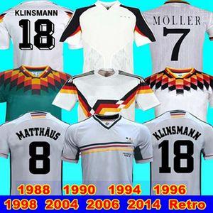 1988 1990 1994 1996 2004 2006 2014 1998 Allemagne Version rétro Littbarski KLINSMANN Matthias KALKBRENNER Allemagne Rétro maison loin JERSEY S-XXL