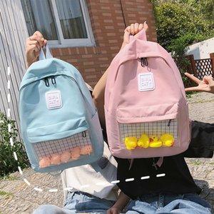 Cute Little Yellow Duck Ita mochilas para chicas bookbags Mujeres Claro mochilas transparentes de gran capacidad Las mujeres mochilas