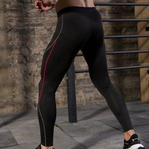 Erkekler Tayt pantolon bisiklet Karşıtı ter Elastik Hızlı Kurutma Spor Fitness spor salonu Eğitimi Pantolon Koşu