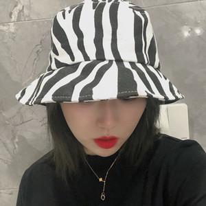 Trendy Modern zebra cappelli della benna Cappello Hipster Fashion Street estate per gli uomini e le donne popolari selvaggio cotone dei cappelli di Sun Drop Shipping