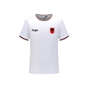 Albania Men's T-shirt fashion football jersey short-sleeved T-shirt men's sports football polo shirt solid color cotton men's T-shirt