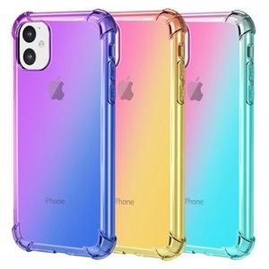 Macio TPU Gradiente Cores telefone caso do iPhone para 5 5S SE 11 Pro Max X XR XS MAX Coque tampa do caso para o iPhone 6 6S 7 8 Plus
