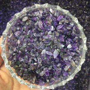 100 g Cristales naturales de amatista grava amatistina cuarzo roca cruda piedras preciosas de cristal curativo mineral desautorización para la decoración