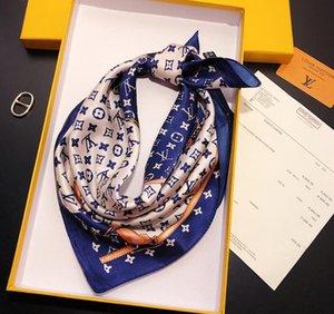 Heiße Art neue Frühjahr / Sommer-Stil kleinen Platz Schal neuen Stil nachgemachte Seide Stewardess koreanische Version vielseitig dünnen Schal Trend Schal