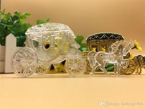 Neue Vakuumbeschichtung Hochzeitsbevorzugungskästen Kreative exquisite Pralinenschachtel Gast Klassische Cinderella Carriage Qualität 2 5LX
