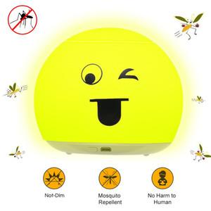 LED Night Light Table Bureau anti-moustique Lampe de chevet rechargeable mignon sourire visage pour les enfants Salon Chambre Maison de Noël