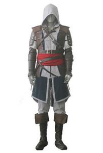 Assassins Creed IV 4 Black Flag Edward Kenway Cosplay Whole Set Frete Expresso Custom Made