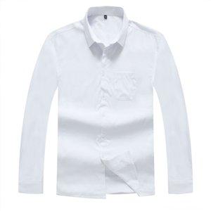 Keep Warm Shirt Male Long Sleeve Velvet Thicken Winter Big Size Loose Men's Shirts Men's Clothing Spuer Solid Color Plus Fat plus Fat Man Mi