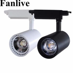 Fanlive LED Track Light ac110v 220v 230v 20W 30W COB Ceiling Rail lights For Pendant Kitchen Clothes Shop Shoes Store