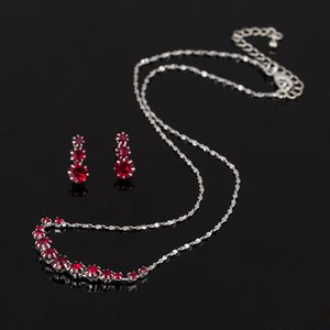 Christmas gift Dress Wedding Accessories Jewellery The bride jewelryFashion Austria Crystal Earrings Necklaces Bridal Jewelry Sets