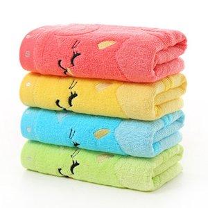 25 * 50cm Cartoon asciugamano per bambini per bambini Jacquard Ricamo Note Gatto piccolo asciugamano Home Bath Mini Kids asciugamani