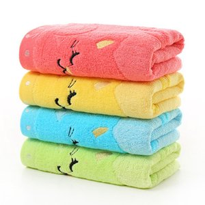 25*50cm Cartoon Children's Towel Children's Jacquard Embroidery Notes Cat Small Towel Home Bath Mini Kids Towels