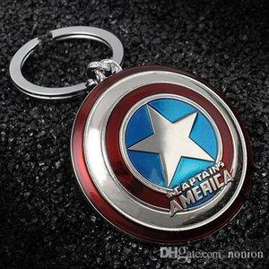 Sıcak Marvel Super Hero Kaptan Amerika kolye Anahtarlık Halka Tutucu Biblo llaveros Metal Avengers Anahtarlık Cosplay Takı