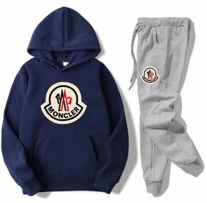 Uit наборы Марка Set Sweatsuit Tracksuit Men Hoodies + штаны Мужская одежда Толстовка Пуловер Женщины Повседневная теннис Спорт костюм тренировочный костюм