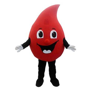 Red Drop of blood mascot costume Cartoon Fancy Dress for أنشطة الرعاية العامةاليوم