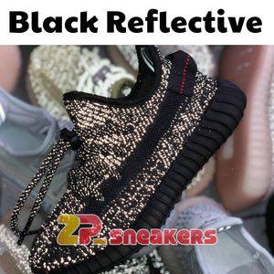 Designer Shoes Yecheil Yeezreel Reflective White Cloud Citrin Kanye West Designer Shoes Noir statique Clay Glow Zebra pour enfants enfants Chaussures de sport
