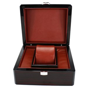 Один слот деревянные часы случае наручные часы коробка организатор хранения путешествия черный 17 х 15 х 10 см