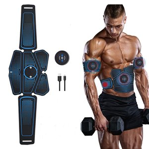 USB Charging Abdominal Toning Belt 6 Modes & 10 Levels Muscle Stick for Men Women Abdomen Training