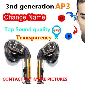 Newest Transparent Gps Rename Air Ap3 pro Tws Gen 3 Pods auto paring wireless bluetooth headphones Earbuds H1 chip earphones pk Ap2 i500 i9s