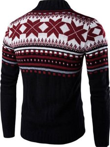 Stand Collar Males Casual Designer Print Single Fashion Sweaters Mens Panelled Clothing Flower Breasted Sweaters Mens Vrmfv