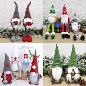 Noel Santa Oyuncak Nordic Noel Baba Doll Süsler Örme Santa Doll Noel Çocuklar Hediyeler Oyuncaklar Noel Ev Dekorasyon DHF256