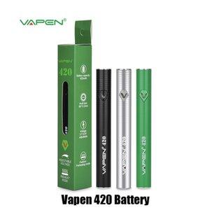 Authentique Vapen 420 Batterie 420mAh Tension Réglable Préchauffer En Bas Kit De Chargeur Micro USB Pour Cartouche Vape 510 Filets Cartouche 100% Original