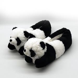 Panda Hausschuhe zu Hause Schuhe tragen Pantoffeln anime Boden Frauen Holz Männer Winter Individuelle Karikatur mit warmen Panda Schuhe nach Hause