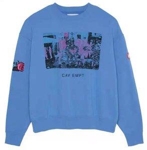 2020ss CAVEMPT C.E azul sudaderas mujeres de los hombres de alta calidad suelta Hip Hop Casual Streetwear C.E Cav Empt Pullover
