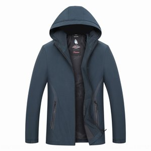 ryAE1 Men's autumn gr clothing middle- top middle-aged elderly clothingpa jacket with hat men's coat jacket 40 middle-aged and elderly cloth
