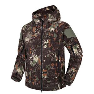 Marca Outono Inverno Fleece militar da camuflagem Men Tactical 'S Vestuário Polar revestimento morno Multicam Army Men Outwear Hoodie Tamanho S-2XL