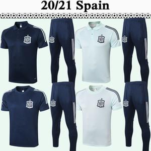 2020 CITP DIEGO COSTA A. INIESTA Football Maillots Hommes Polo Costume Équipe d'Espagne ASENSIO Sapphire bleu clair football shirt à manches courtes