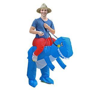 Costumi gonfiabili di mascotte di esplosione di Halloween del costume T-REX di guida gonfiabile del dinosauro per l'adulto